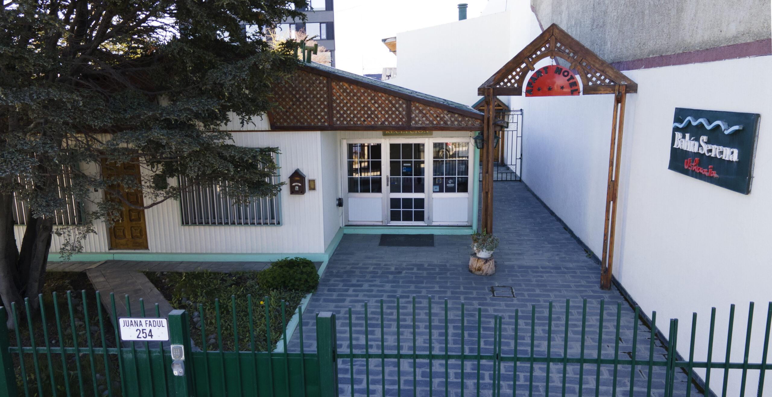 Acceso al Apart Hotel Bahía Serena